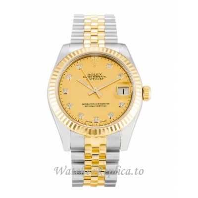 Rolex Datejust Lady Champagne Goldust Diamond Dial 178273 31MM