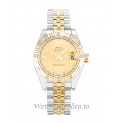 Rolex Datejust Lady Mother of Pearl   Champagne Diamond Dial 179313 26MM