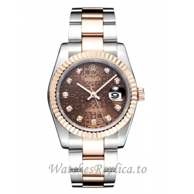 Rolex DateJust Replica 116233 Brown Dial 41MM