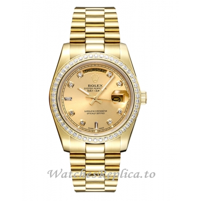 Rolex Day Date 128348RBR Replica Watch 40MM