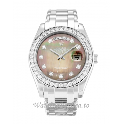 Rolex Day-Date Mother of Pearl Black - Diamond Dial 18946-36 MM