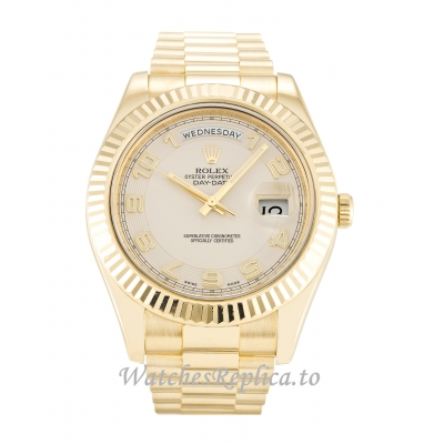 Rolex Day-Date II Ivory Dial 218238-41 MM