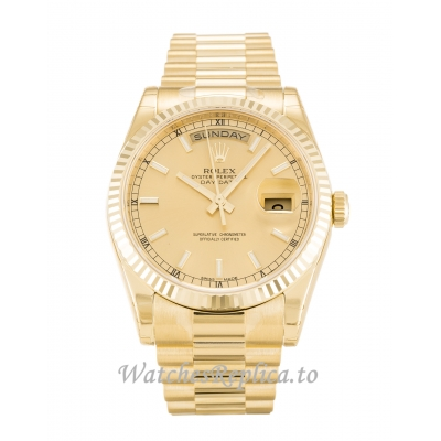 Rolex Day-Date Champagne Dial 118238-36 MM