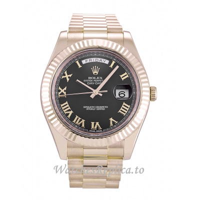 Rolex Day Date II Black Dial 218235  41MM