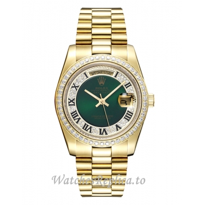 Rolex Day Date Replica Diamond Bezel 118348 36MM