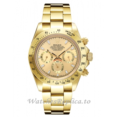 Rolex Daytona 116508 Yellow Gold Dial Replica Watch 40MM