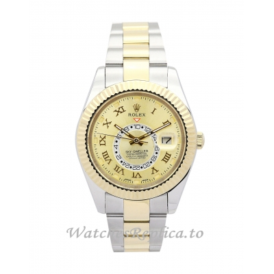 Rolex Sky Dweller Gold Dial 326938 42MM