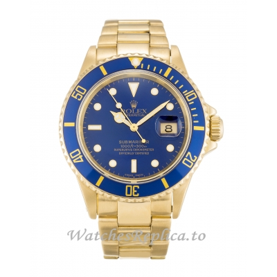 Rolex Submariner Blue Dial 16618-40 MM