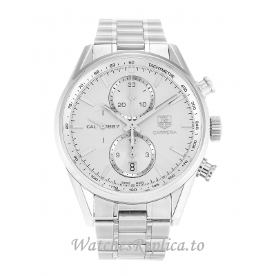 Tag Heuer Carrera Silver Dial CAR2111.BA0720 41 MM