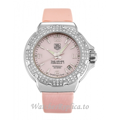 Tag Heuer Formula 1 Mother of Pearl   Pink Dia Sparkling WAC1216.FC6220 37 MM