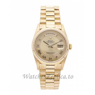Rolex Replica Day-Date Gold Dial 36mm 18238