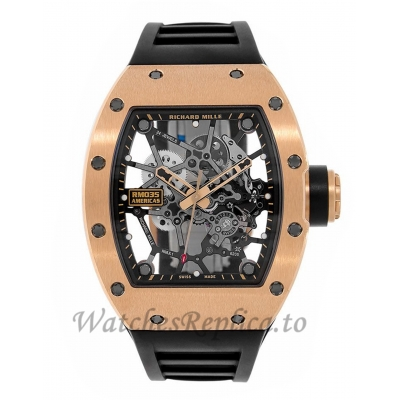 Richard Mille Replica RM035 Toro Americas Edition Rose Gold Mens 48MM Watch RM035 36336